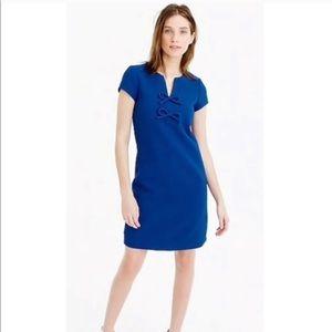 J Crew Blue Presentation Dress Sz 2 Short Sleeves